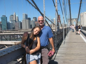 "Today we did ""the walk"" across the Brooklyn Bridge."