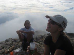 Oct 31, Emma and Rafa-at the summit