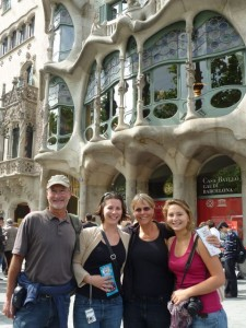 May 13: In front of Gaudi's Casa Battló