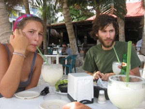 Dec 12: Lunch on the beach in Playa.