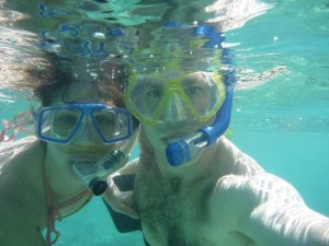 Dec 31: Sarah and James out for a final snorkel