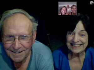 January 29: Finally catching up with Dad, Coby and Paul on skype.