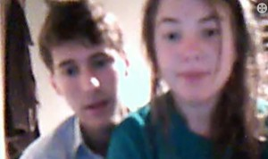 January 23: We finally caught up with Adam and Ana on Skype.  We love his new look!