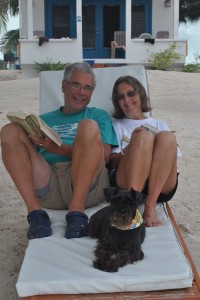 February 10: Bob and Win relaxing on the beach.