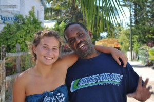 February 12: Hannah and Charles, a self proclaimed island ambassador.