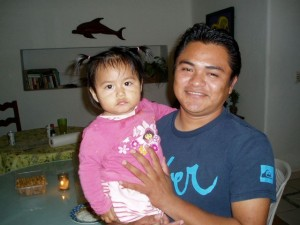 February 28: Carlos and his little daughter.