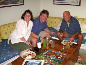 March 8: Dinner with Jim, Cathy and the birthday boy.