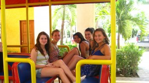 March 7: Evading security by escaping on the resort tram. Girls on the Run!