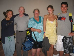 March 18: Hannah, Dave, Joanne, Wendy and Rolfe.