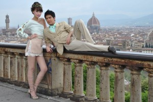 May 10: Happening onto a professional photo shoot in Piazzale Michelangelo.
