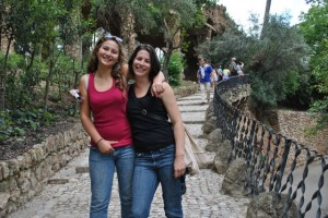 May 13: Hannah and Sarah in Guell Park