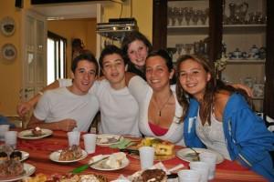 April 25: Hannah's birthday celebration at Francesca's house.