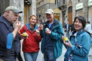May 6: Gelato stop in Siena.
